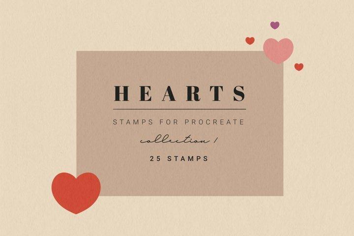 25 Procreate Heart Stamps   Procreate Valentine Brushes