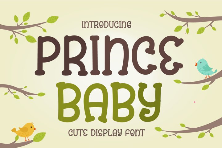 Prince Baby - Cute Display Font
