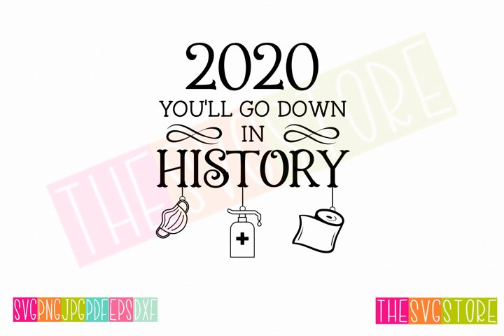 2020 Down in History SVG, 2020 Christmas