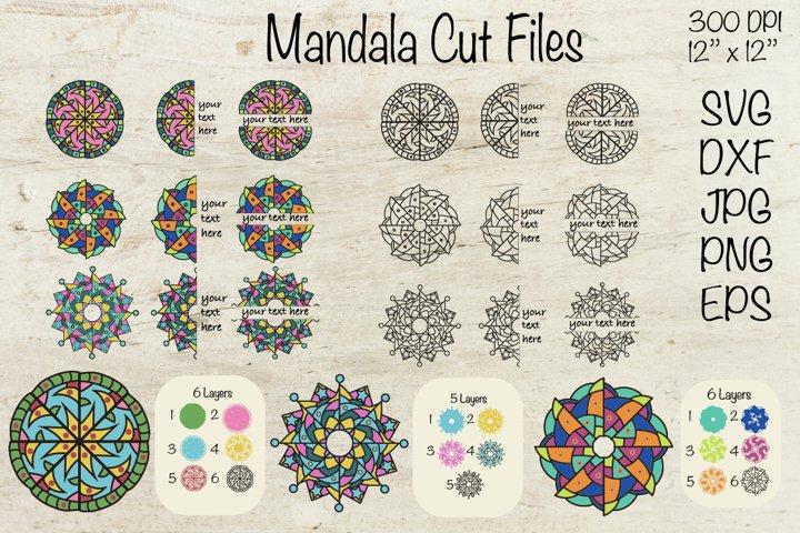 Mandala SVG. 3D Mandala Cut File. Mandala ClipArt.
