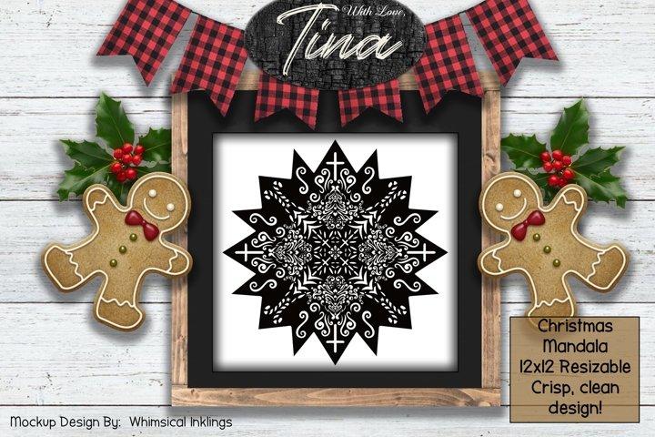 Christmas Quilt Mandala