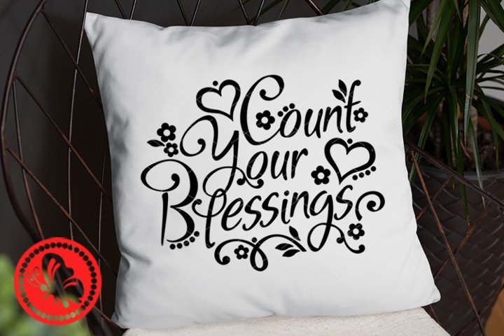 Count your blessings svg Home decor Thanksgiving decorations