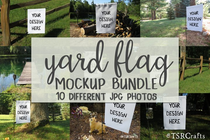 Yard Flag Mockup Bundle - 10 photos included!