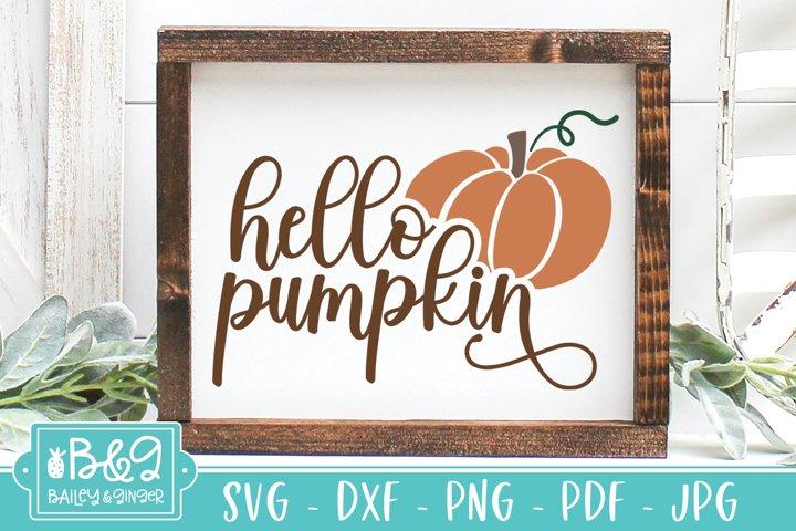Cute Hello Pumpkin SVG, Fall Seasonal SVG