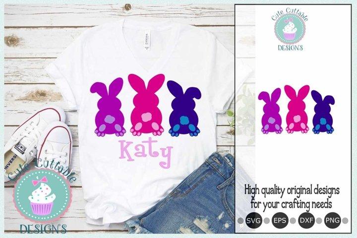 Easter svg 3 Bunny tail Bundle Sublimation-Cut