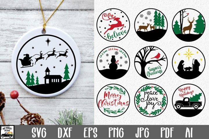Christmas Ornament SVG - 10 Christmas SVG Files