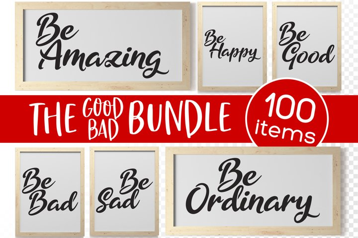 The Good Bad Bundle Word Vector SVG Text Cut File for Makers