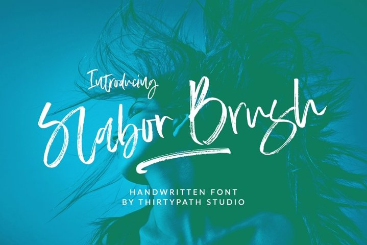 Slabor Brush Font