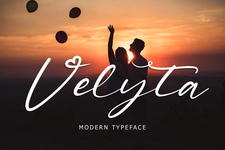 Velyta Modern Typeface
