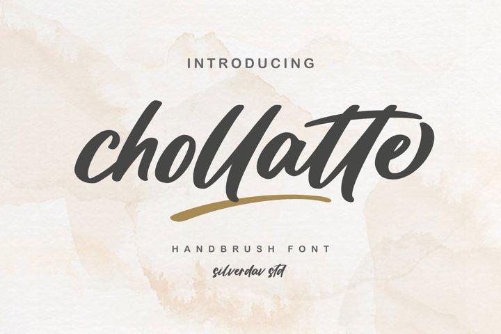 Chollatte - Hanbrush Font
