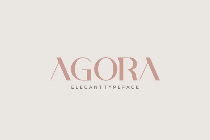 AGORA - Elegant Typeface
