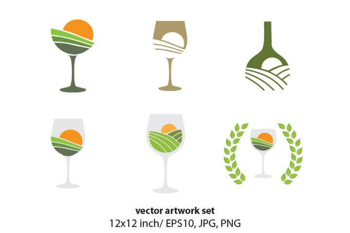 WINE, VECTOR ARTWORK SET