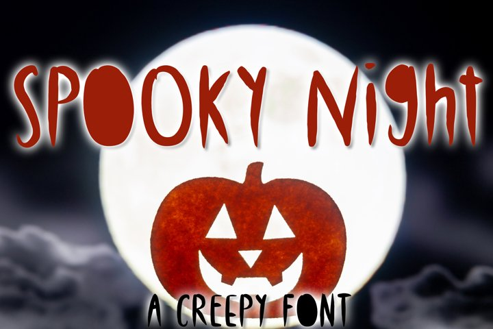 Spooky Night - A Creepy Font