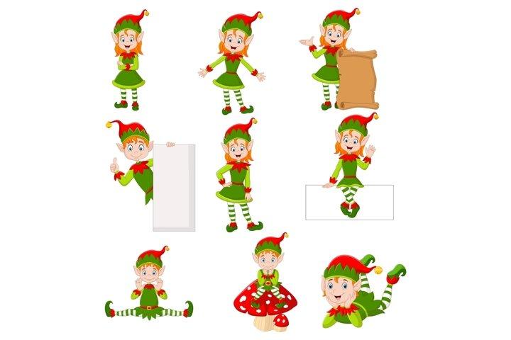 Cartoon Cute Elves Bundles