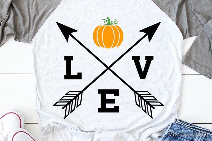 Love with Pumpkin Svg, Pumpkin Patch Svg, Fall Harvest Svg