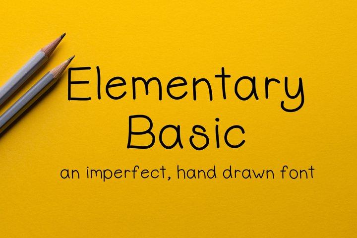 Elementary Basic - Imperfect Handwritten Font