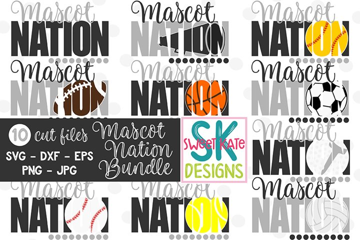 YOUR MASCOT Nation Bundle - 10 - SVG DXF EPS PNG JPG