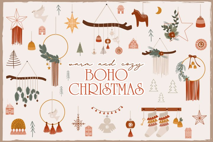 Boho Christmas, warm & cozy