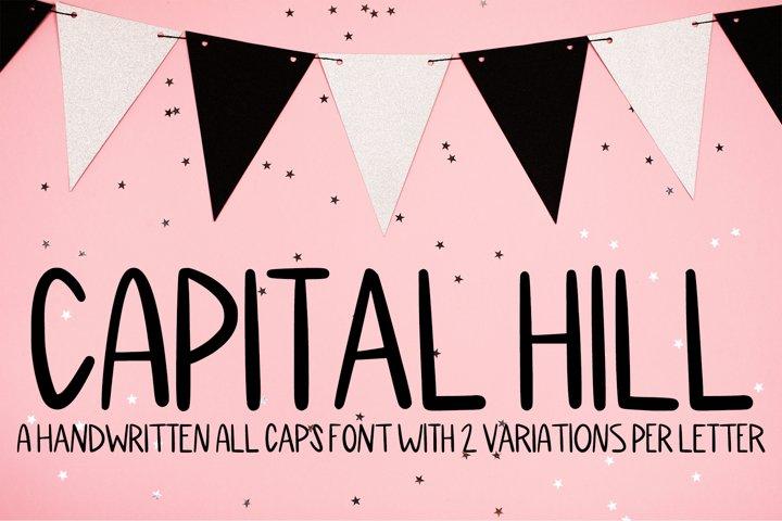Capital Hill - A Handwritten All Caps Font