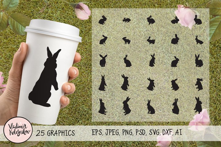 Rabbit Silhouette 25 object