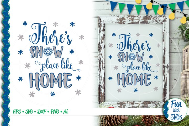 SVG Theres No Place Like Home, Cut File, Clip Art FWS392