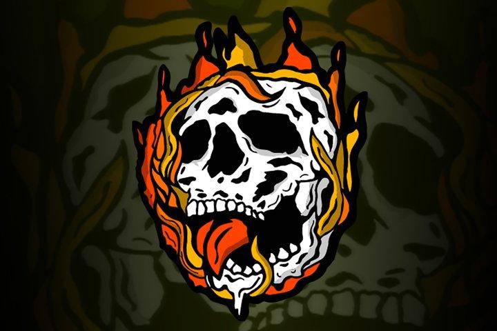White Skull | T-Shirt Design