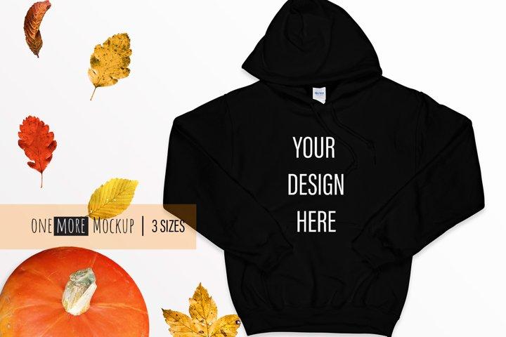 Fall Mockup | Gildan 18500 Black | Black Mockup