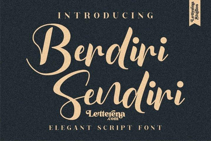 Berdiri Sendiri - Elegant Script Font