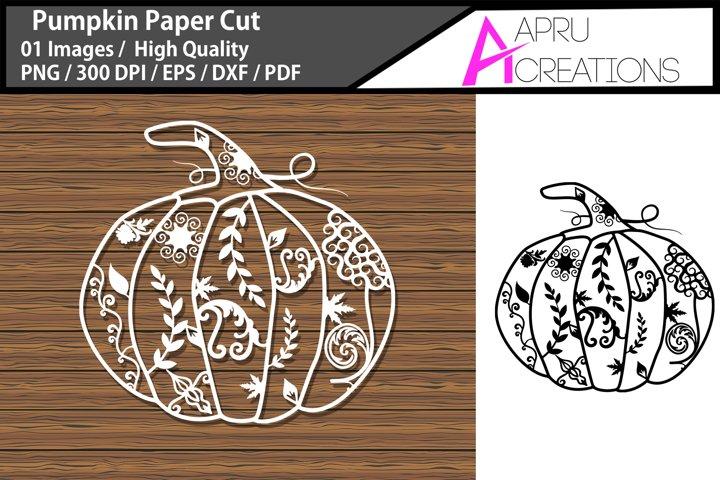 pumpkin paper cut svg/ Halloween paper cut svg