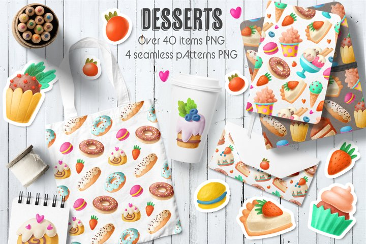 Desserts clipart collection