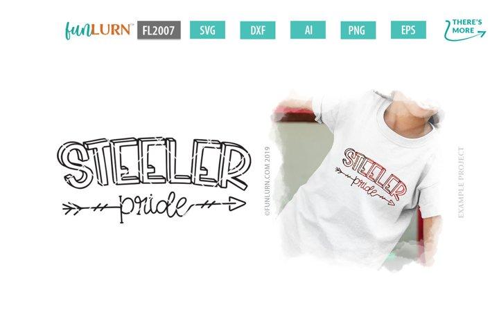 Steeler Pride Team SVG Cut File