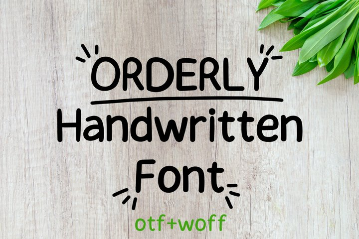 Orderly Handwritten Font