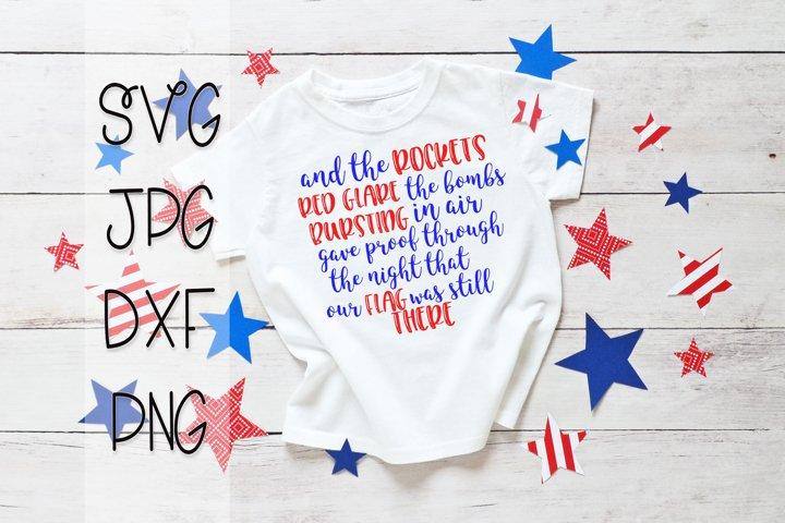 Star Spangled Banner SVG