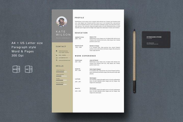 MS. Word Modern Resume Template