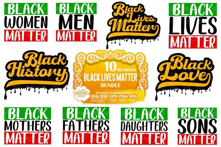 Black Lives Matter SVG Bundle | Black History SVG Bundle