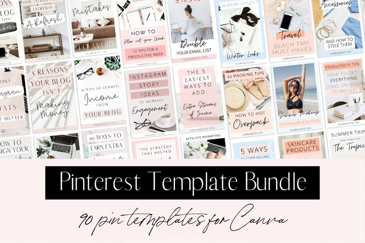Pinterest Template Bundle for Canva