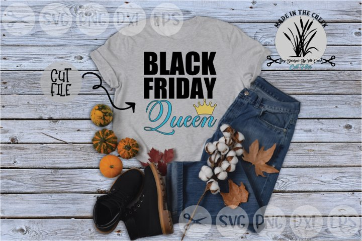 Black Friday Queen, Crown, Shopping, Sales, Cut File, SVG