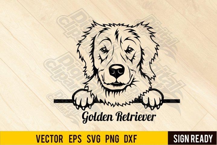 Peeking Golden Retriever DOG SVG Ready Cut