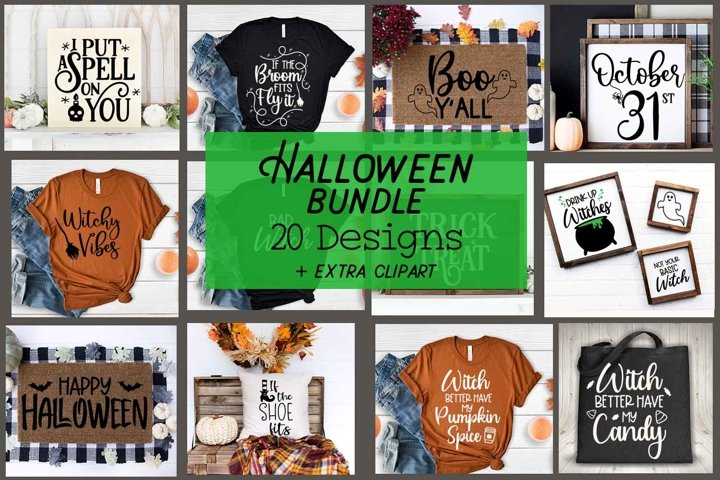 Halloween Bundle 20 Halloween Svg plus Clipart