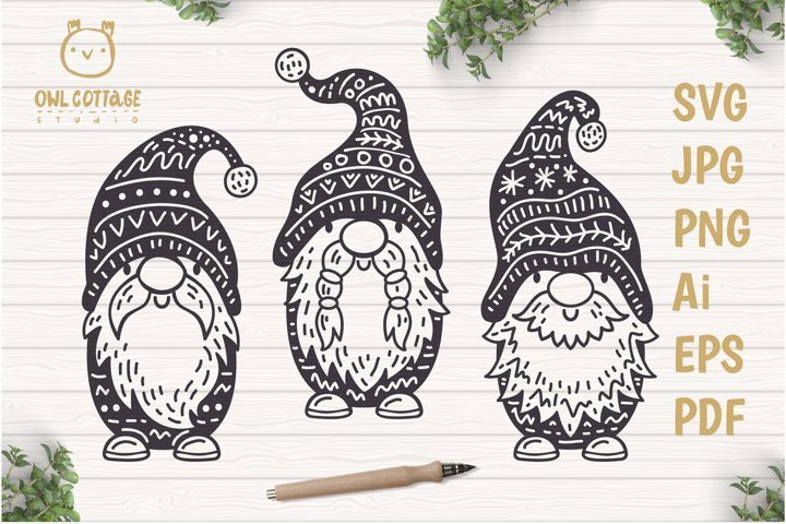Scandinavian Gnomes SVG, Gnome Clipart, Tomte example