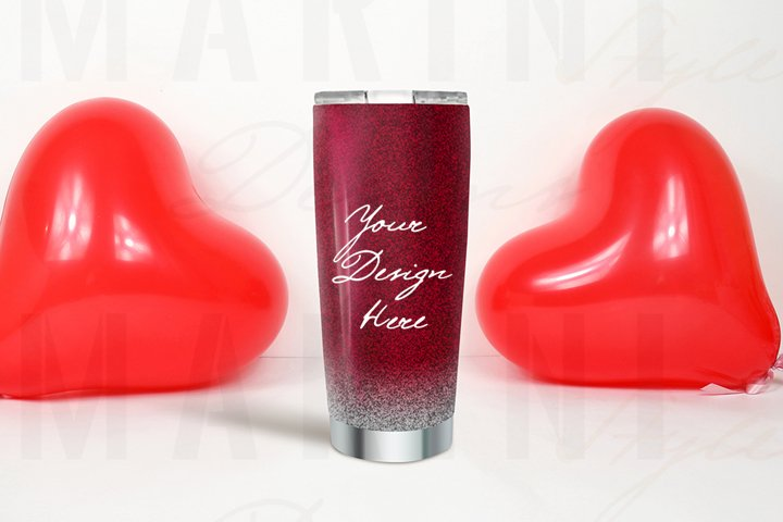 Valentines day tumbler mockup, Glitter tumbler mockup, 1100