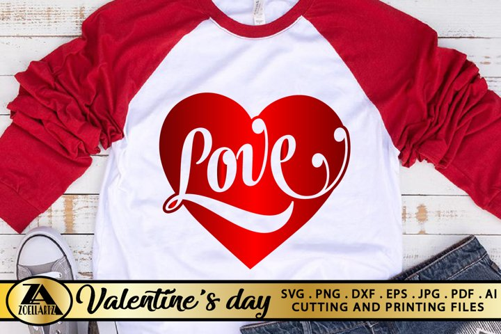 Valentines SVG Love Heart SVG Valentines Day SVG cut File