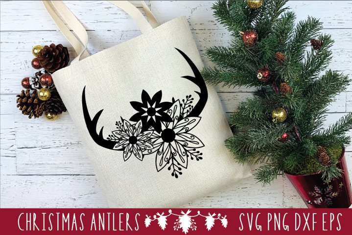 CHRISTMAS|MERRY CHRISTMAS SVG|Holiday Svg|Floral SVG PNG DXF