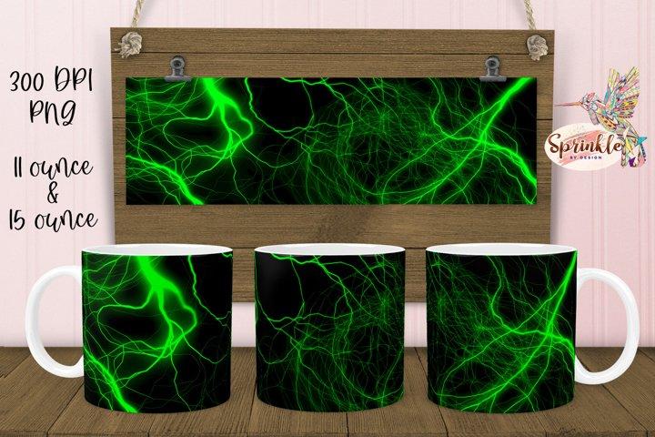 Green Lightning Mug Sublimation - Sublimation Mug Designs