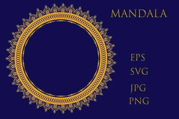 Mandala. Round forms.