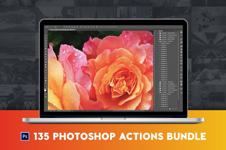 135 Pro Photoshop Actions Bundle