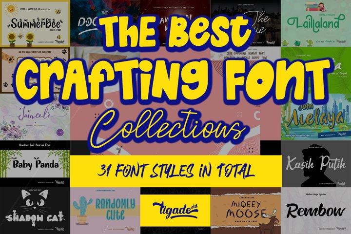 The BEST Crafting Font Collections