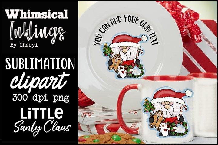 Little Santy Claus Sublimation Clipart
