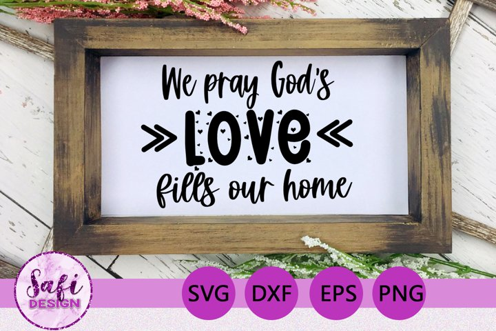 Christian Home Cut File - SVG DXF EPS PNG