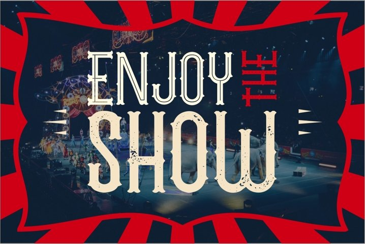 The Circus Show - Free Font Of The Week Design0